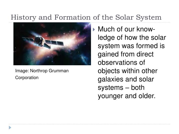 History and Formation of the Solar System