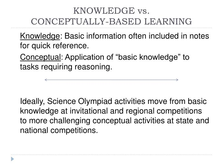 KNOWLEDGE vs.