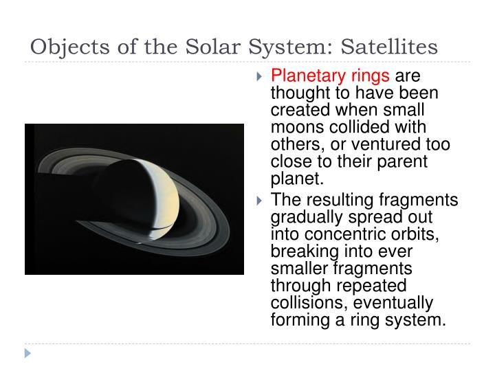 Objects of the Solar System: Satellites