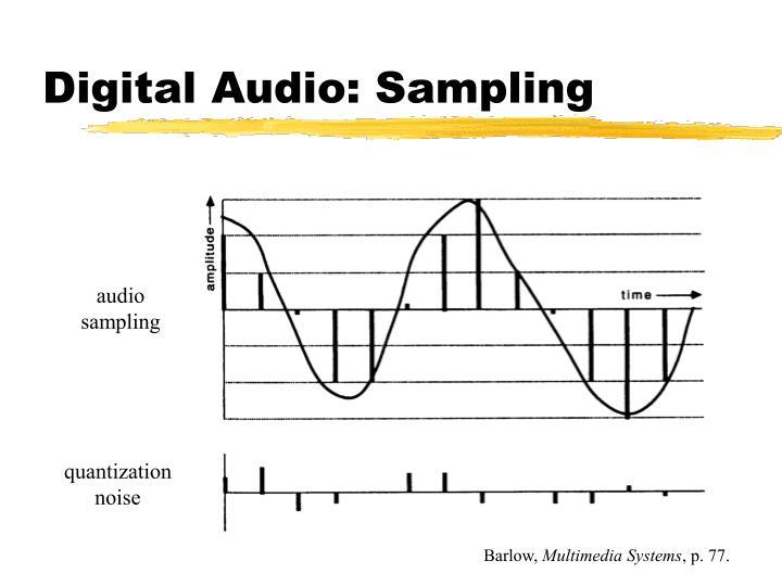 Digital Audio: Sampling