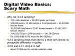 digital video basics scary math
