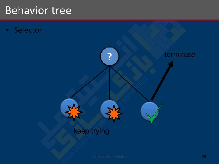 Behavior tree