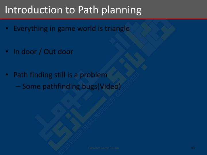 Introduction to Path planning