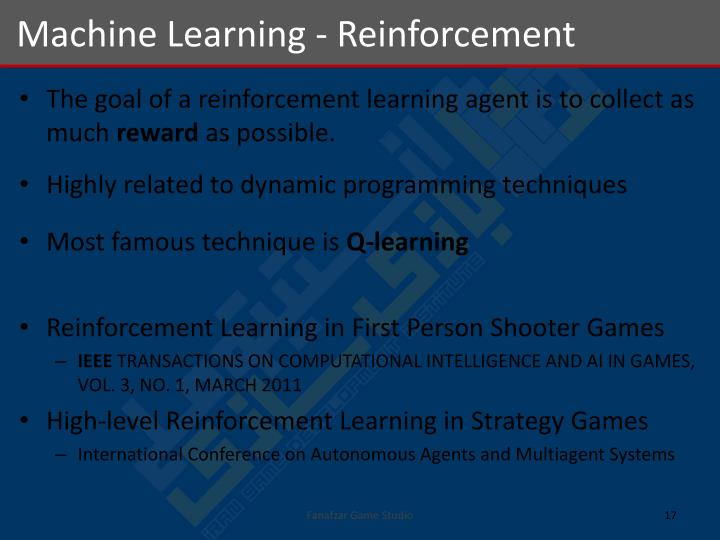 Machine Learning - Reinforcement