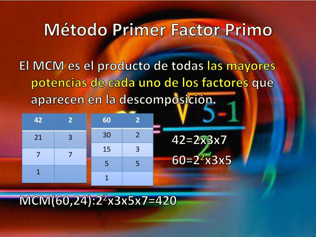 Método Primer Factor Primo