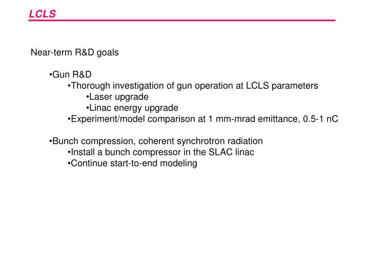 Near-term R&D goals
