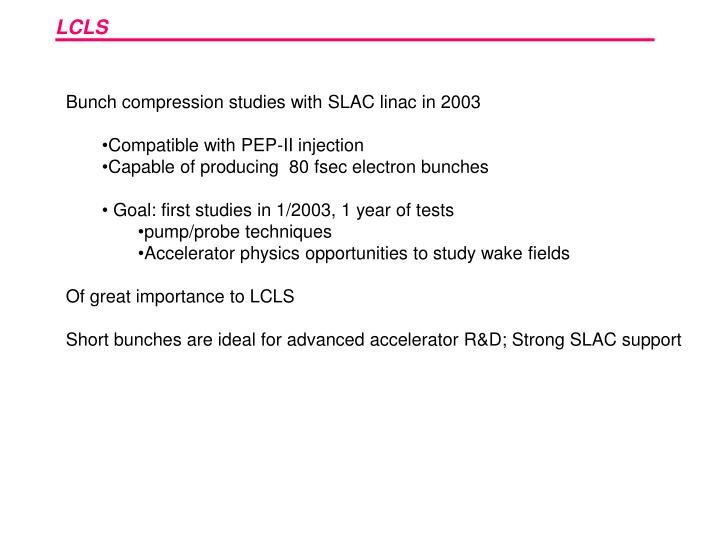 Bunch compression studies with SLAC linac in 2003