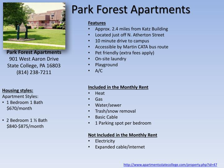 Ppt Psu Law Student Housing Options State College Pa