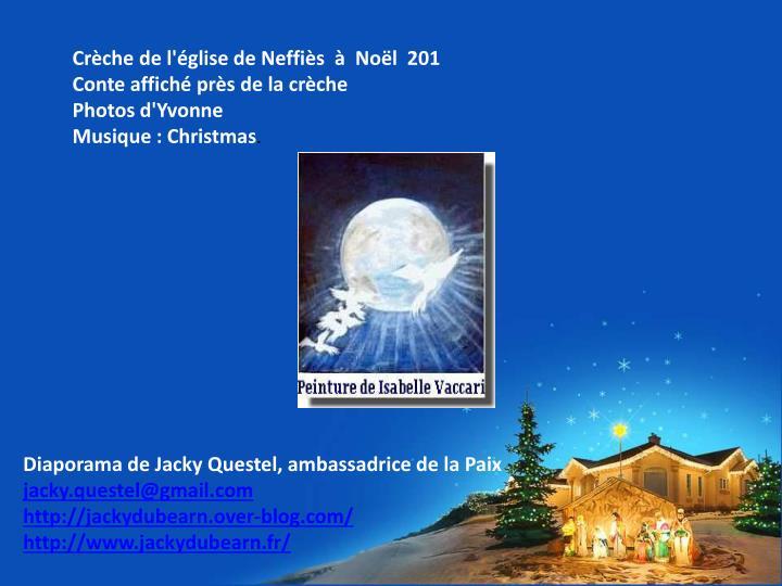 Crèche de l'église de Neffiès  à  Noël  201