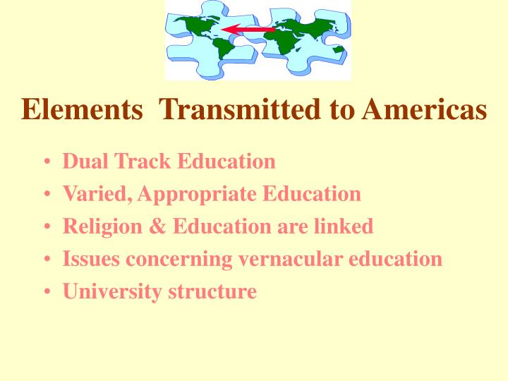 Elements  Transmitted to Americas