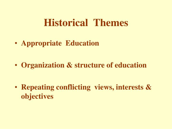 Historical  Themes