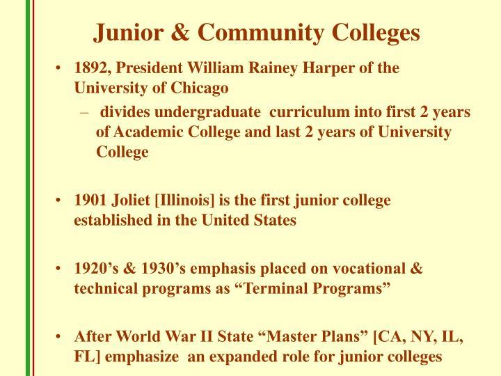 Junior & Community Colleges