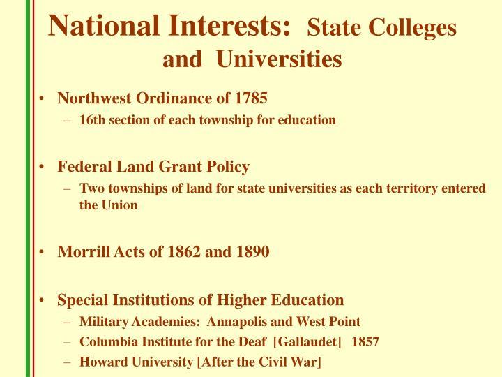 National Interests: