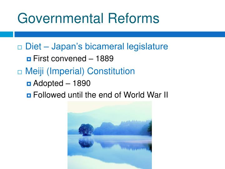 Governmental Reforms