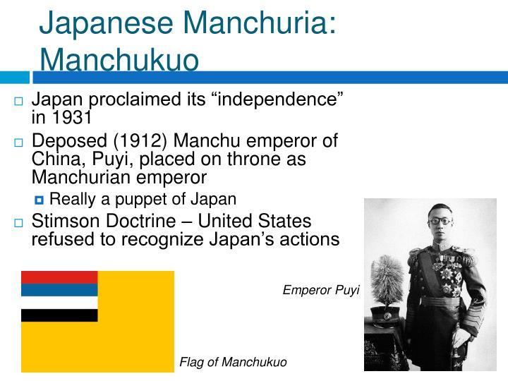 Japanese Manchuria: Manchukuo