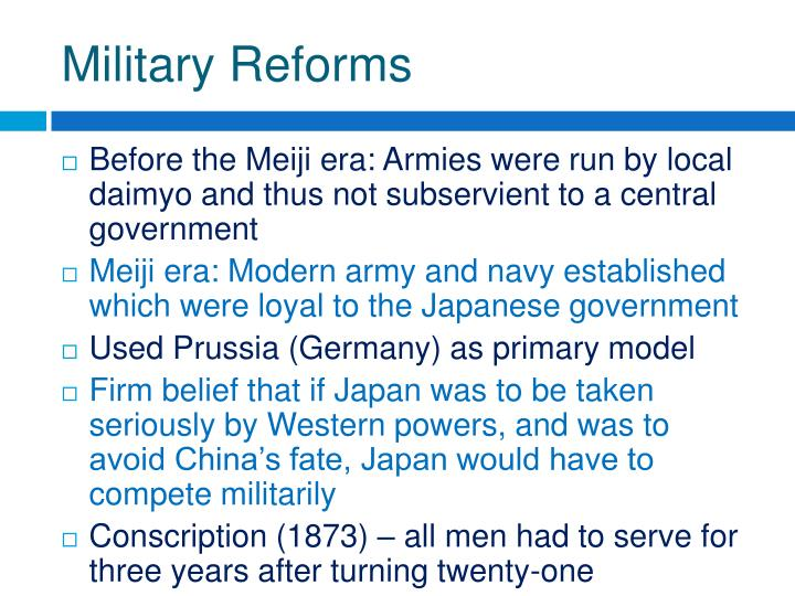 Military Reforms