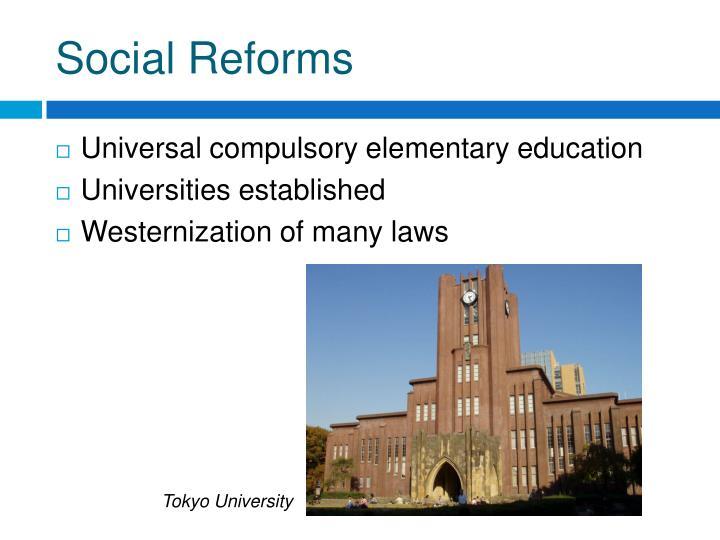 Social Reforms