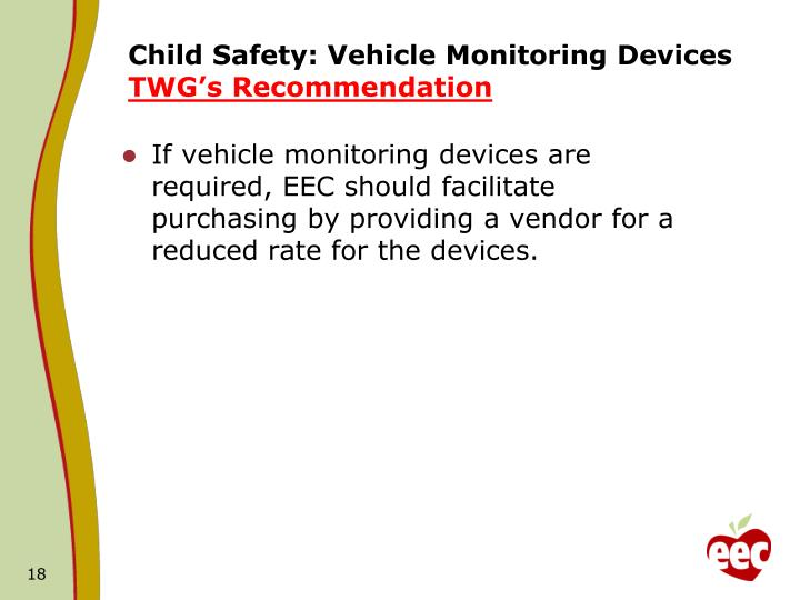Child Safety: Vehicle Monitoring Devices