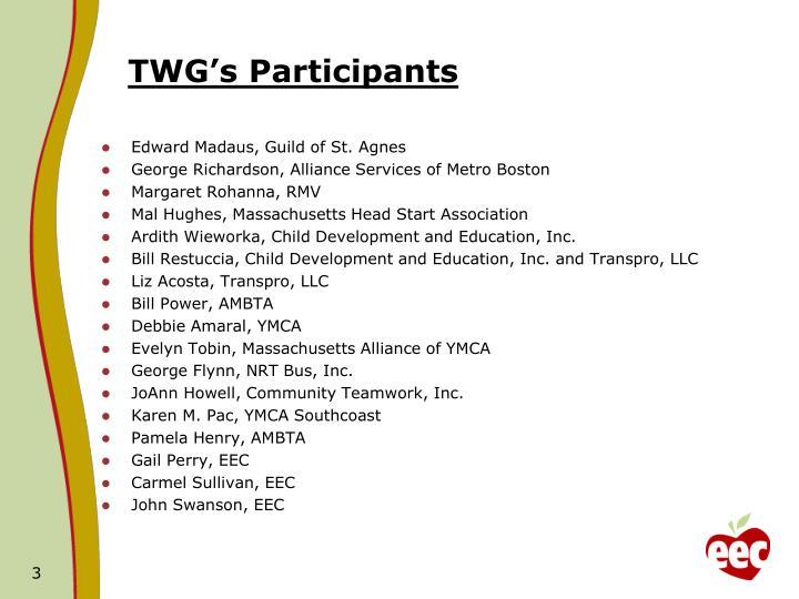 TWG's Participants