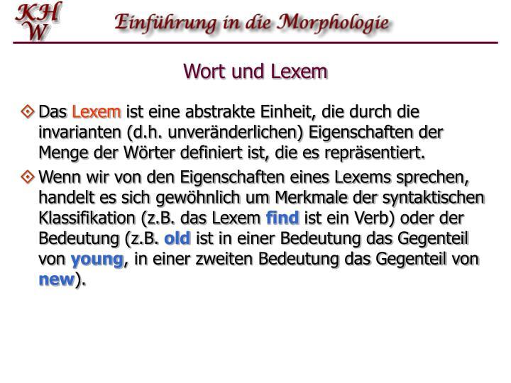 Wort und Lexem