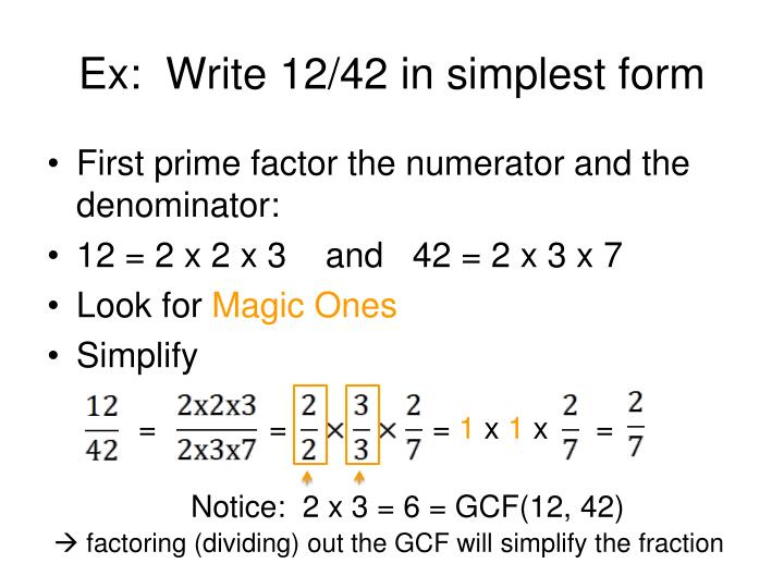 write fractions in simplest form