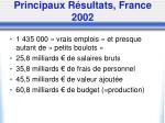 principaux r sultats france 2002