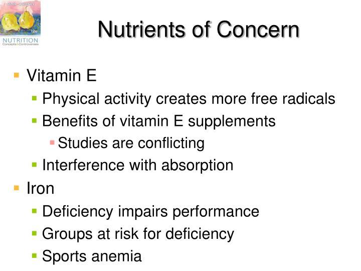 Nutrients of Concern