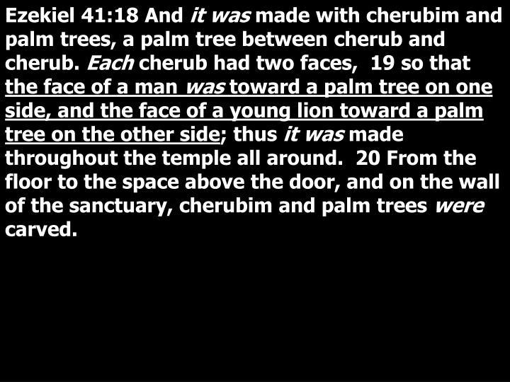 Ezekiel 41:18 And