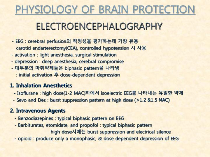 PHYSIOLOGY OF BRAIN PROTECTION