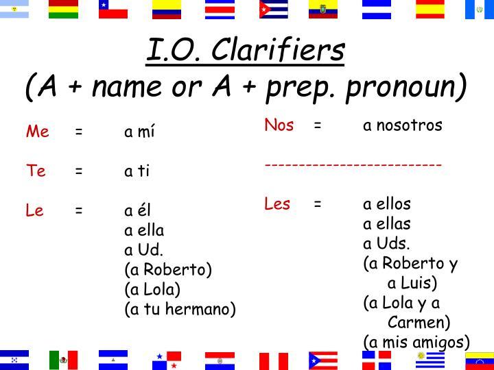I.O. Clarifiers