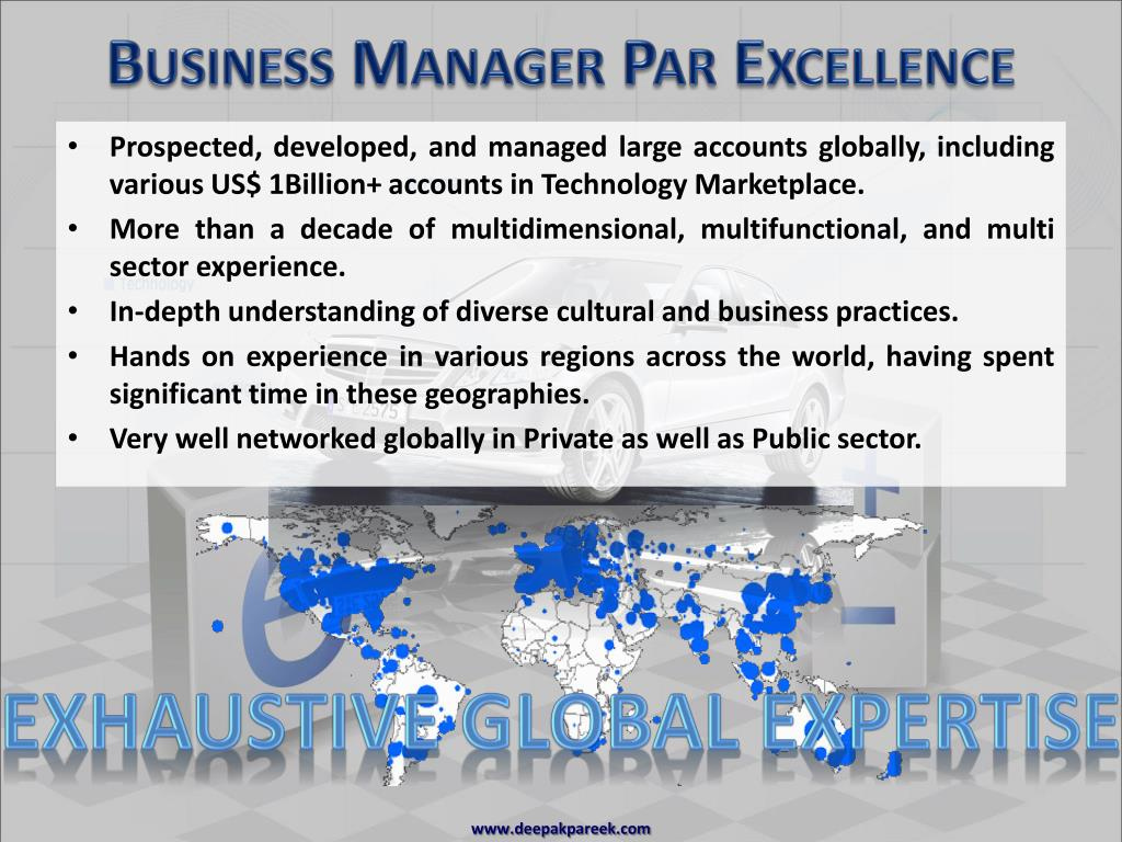 Business Manager Par Excellence