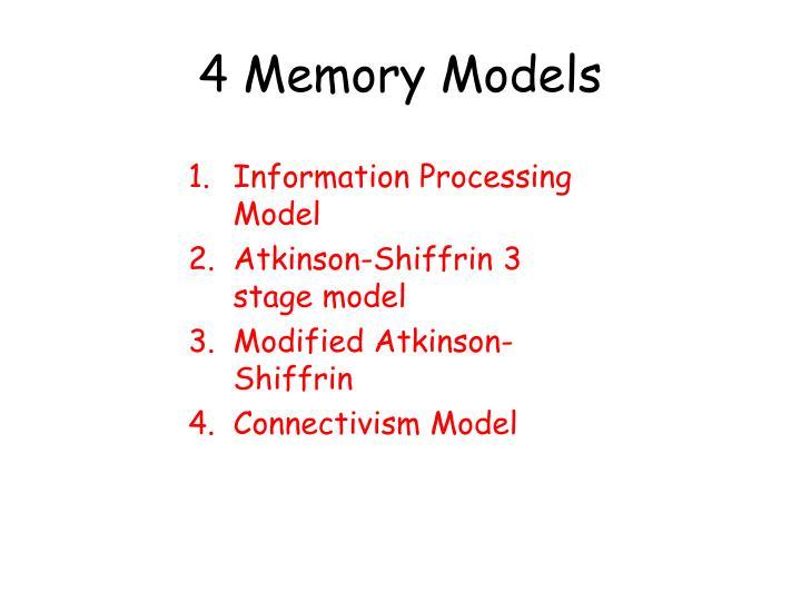 4 Memory Models