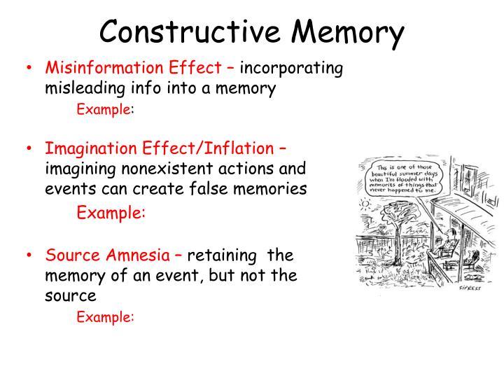 Constructive Memory