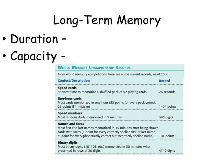 Long-Term Memory