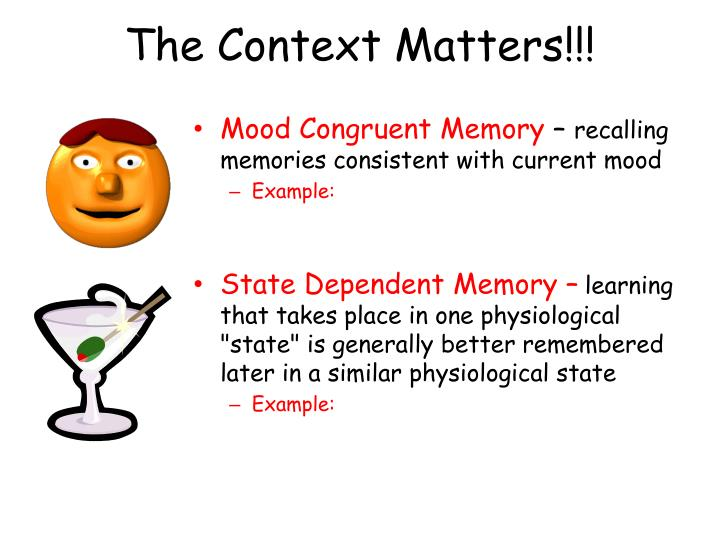 The Context Matters!!!