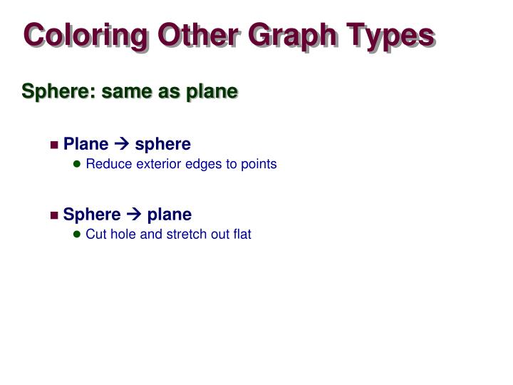 Coloring Other Graph Types