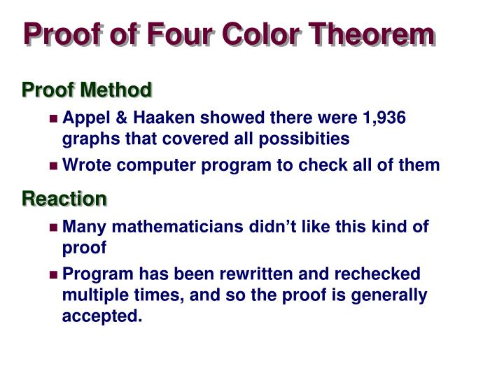 Proof of Four Color Theorem