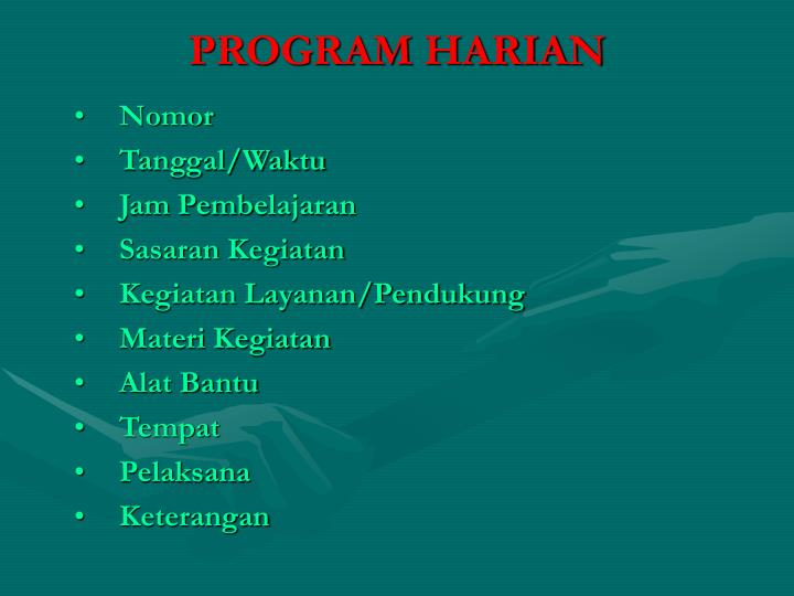 PROGRAM HARIAN