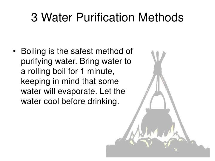 3 Water Purification Methods
