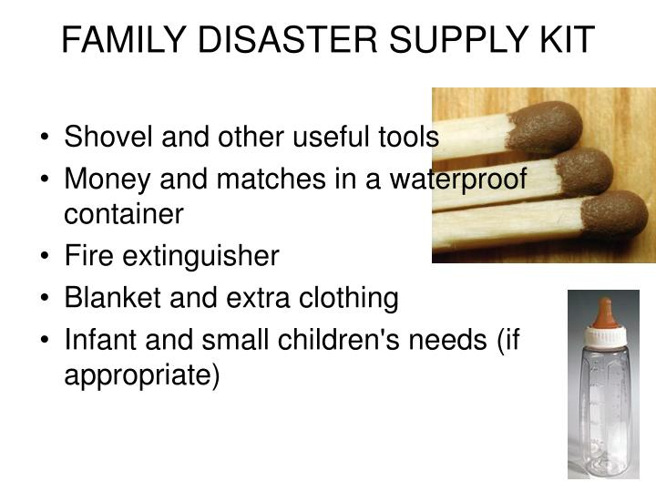 FAMILY DISASTER SUPPLY KIT