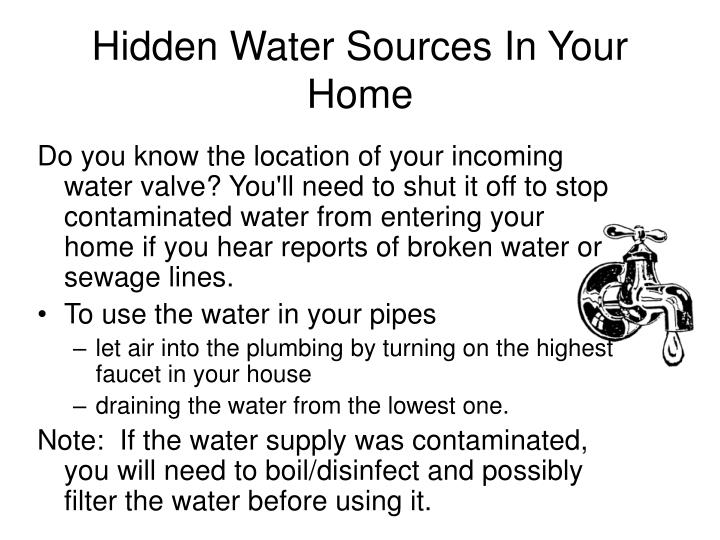 Hidden Water Sources In Your Home