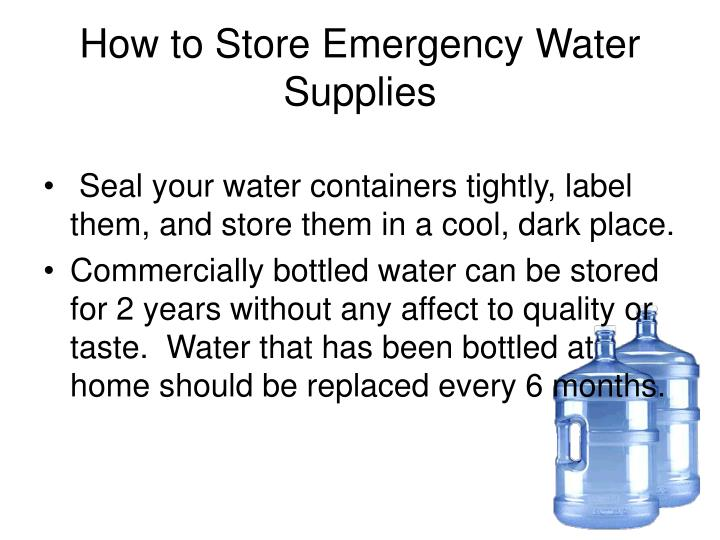 How to Store Emergency Water Supplies