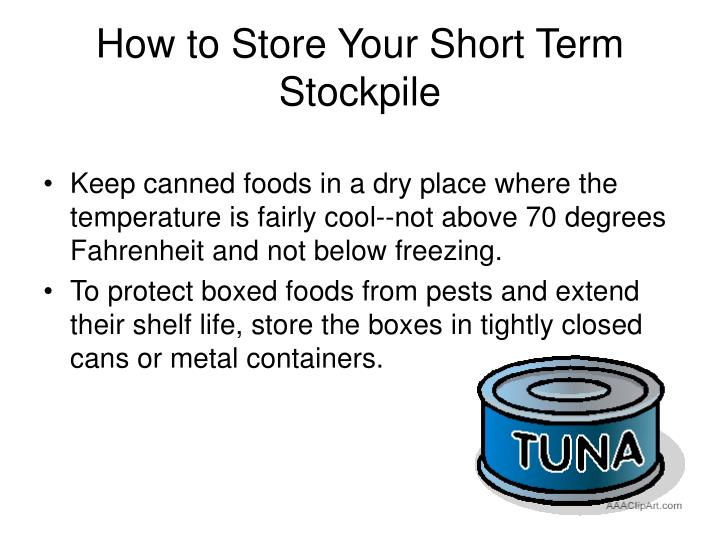 How to Store Your Short Term Stockpile