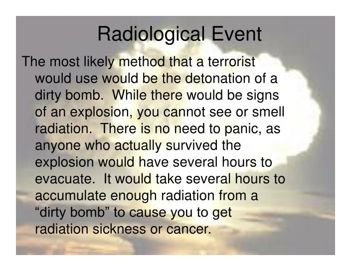 Radiological Event