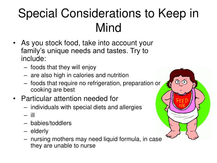 Special Considerations to Keep in Mind