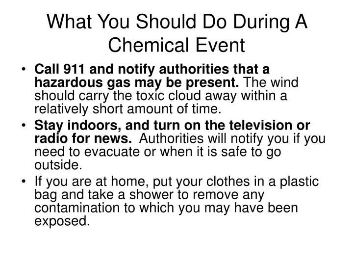 What You Should Do During A Chemical Event