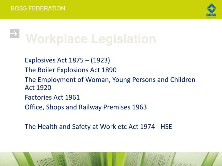 Workplace legislation