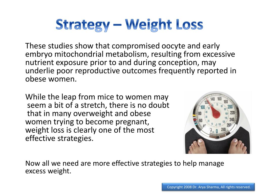 Strategy – Weight Loss