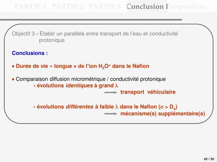 PARTIE 1   PARTIE 2   PARTIE 3   Conclusion Perspectives