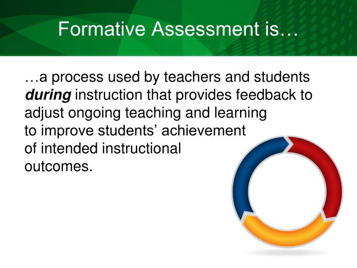 Formative Assessment is…